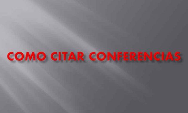 Como Citar Conferencias