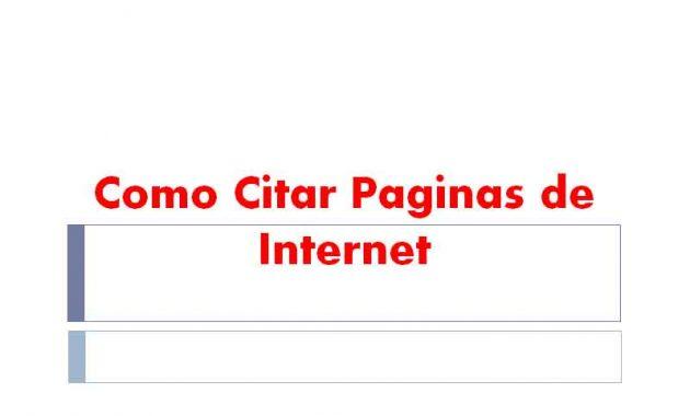 Como Citar Paginas de Internet