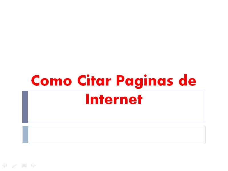 Como Citar Paginas De Internet Formatoapa Com Reglas Y