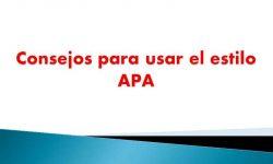 Consejos para usar el estilo APA